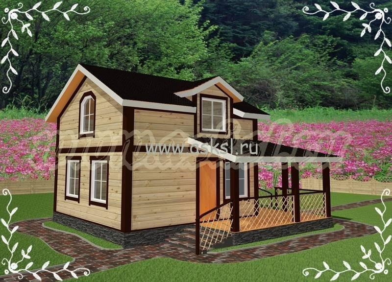 Дачный домик эконом класса, недорогой, удобный и уютный.