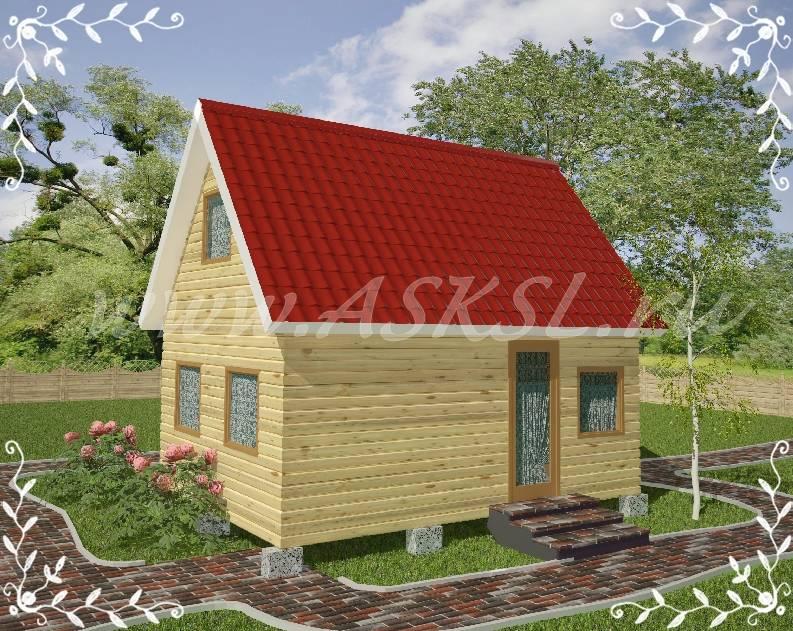 Фото каркасно-щитового дома ДД 4х6