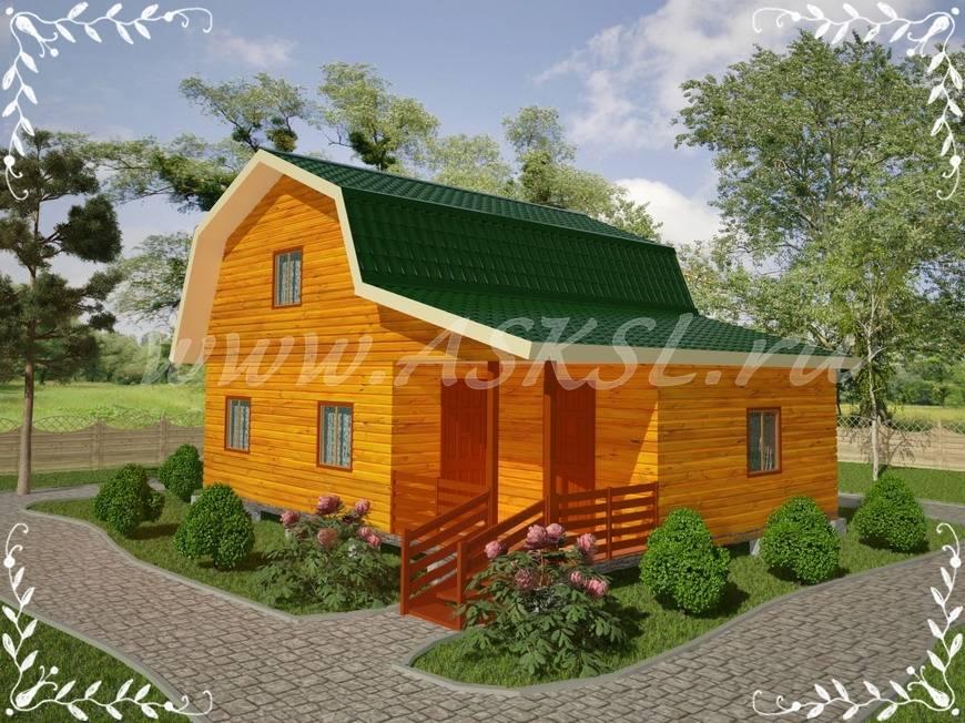 Фото каркасно-щитового дома ДД 6х8 Т