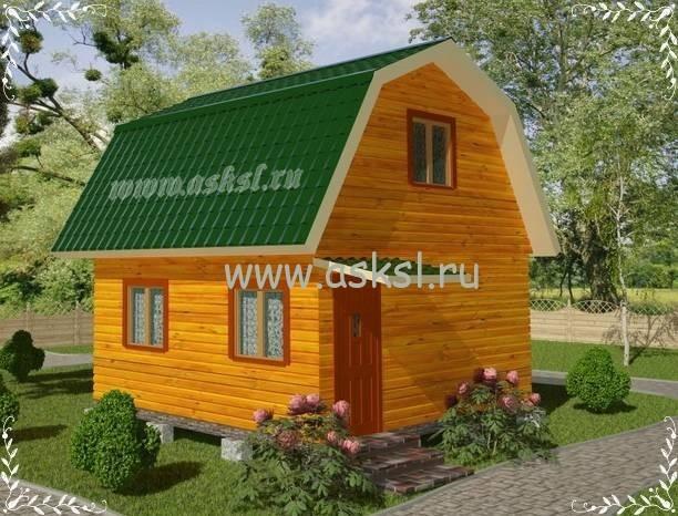 Фото каркасно-щитового дома ДД 5х5 ЛК
