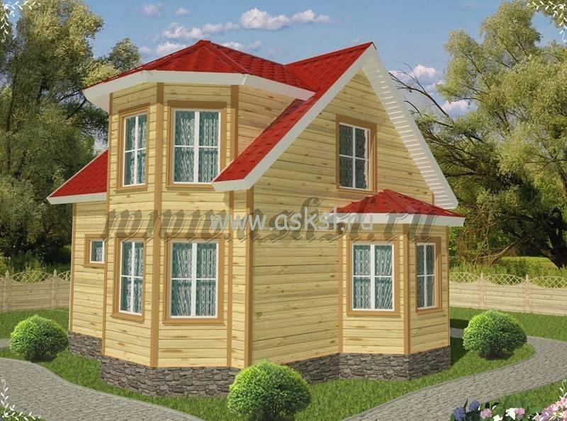 Удобный и уютный дачный дом эконом класса