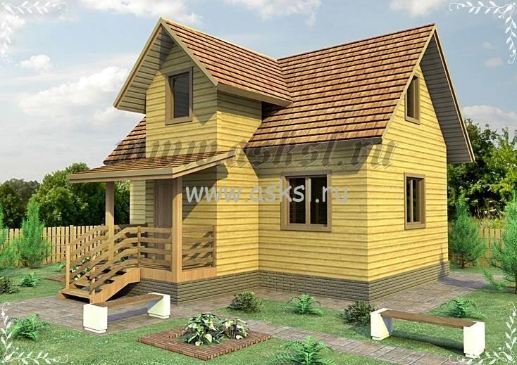 Недорогой и уютный проект дачного дома из бруса для вас!
