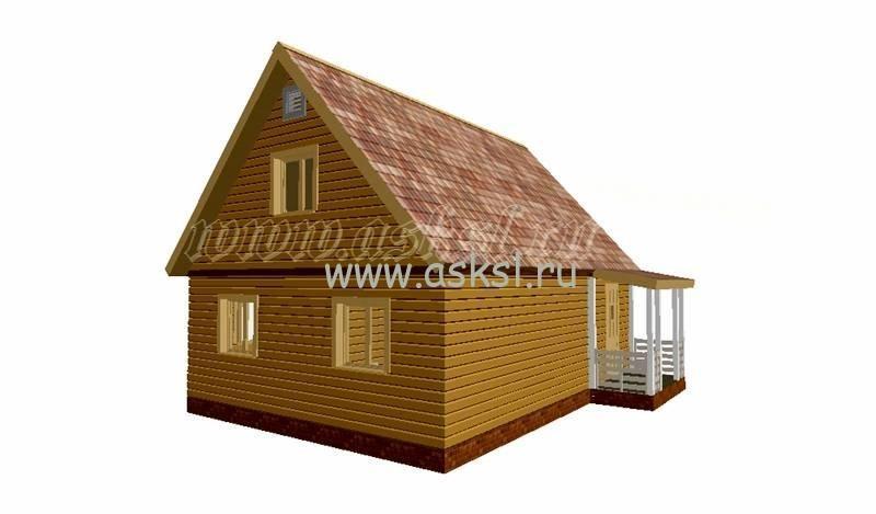 Фото каркасно-щитового дома ДД 6х8 К