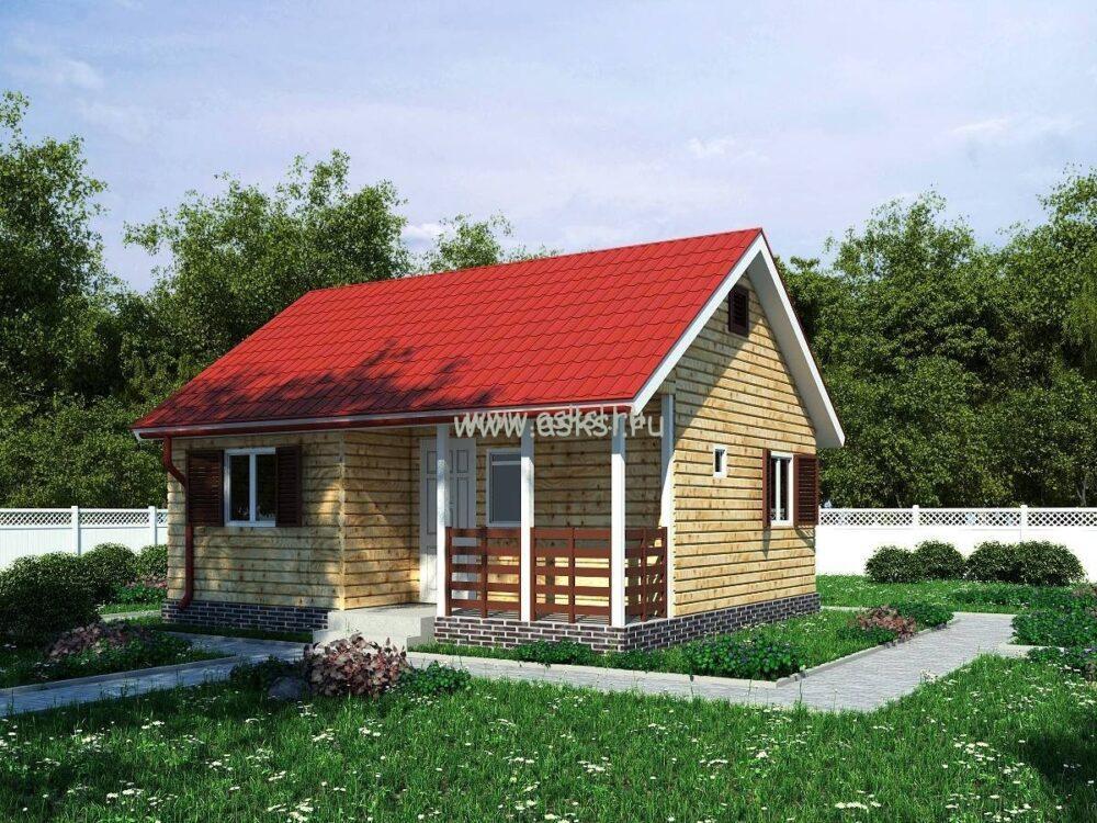 Фото каркасно-щитового дома ОД 6х7 Т