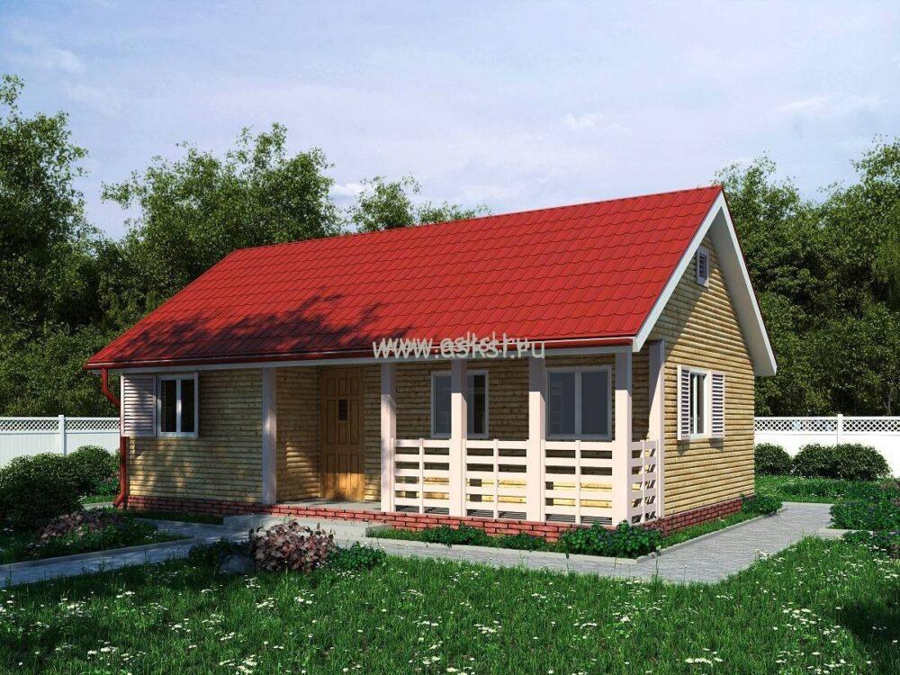 Каркасный дом ОД 6х9 Т