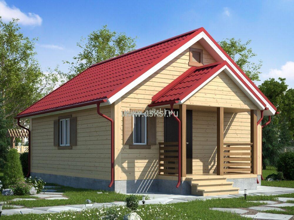 Фото каркасно-щитового дома ОД 6х7 К
