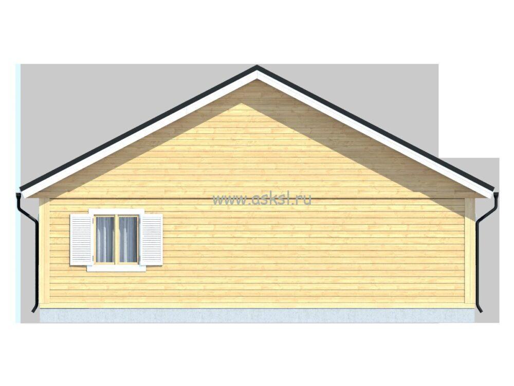 Каркасный дом ОД 6х9 ТН фасад
