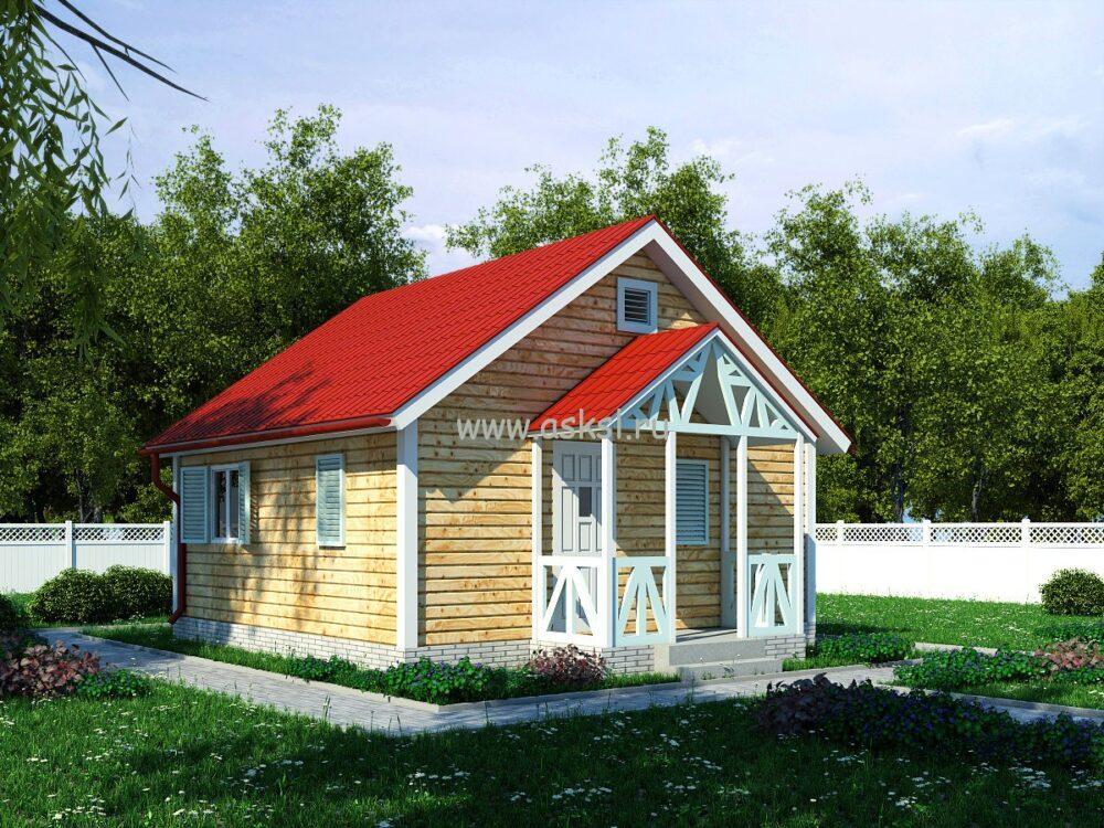 Каркасный дом ОД 6х6 К