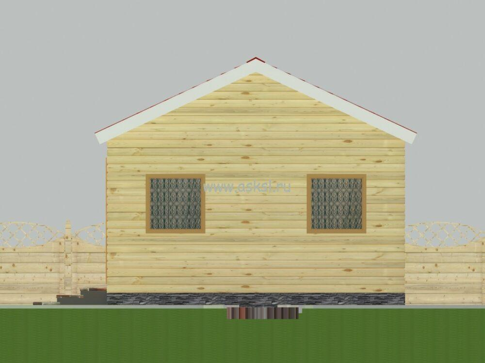 Каркасный дом ОДК 5х7 фасад