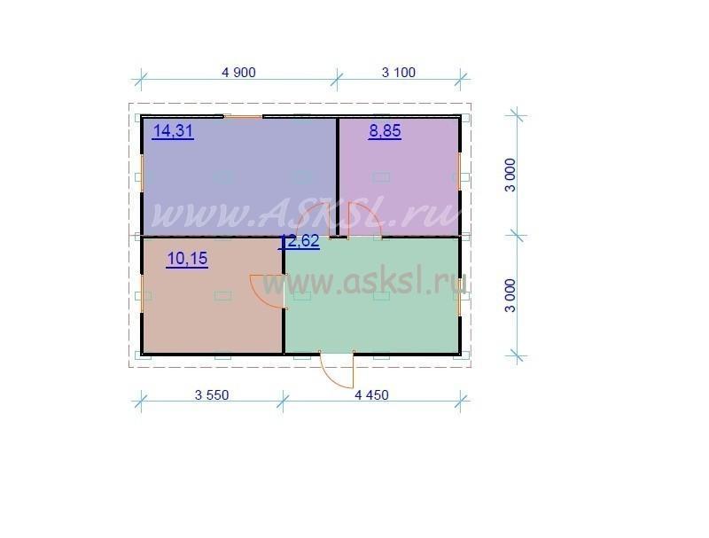 План дома ОДК 6х8