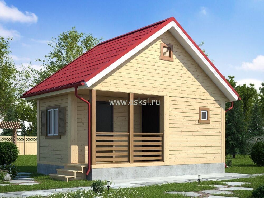 Фото каркасно-щитового дома ОД 4х6 Т