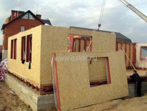 Щитовой дом в процессе строительства