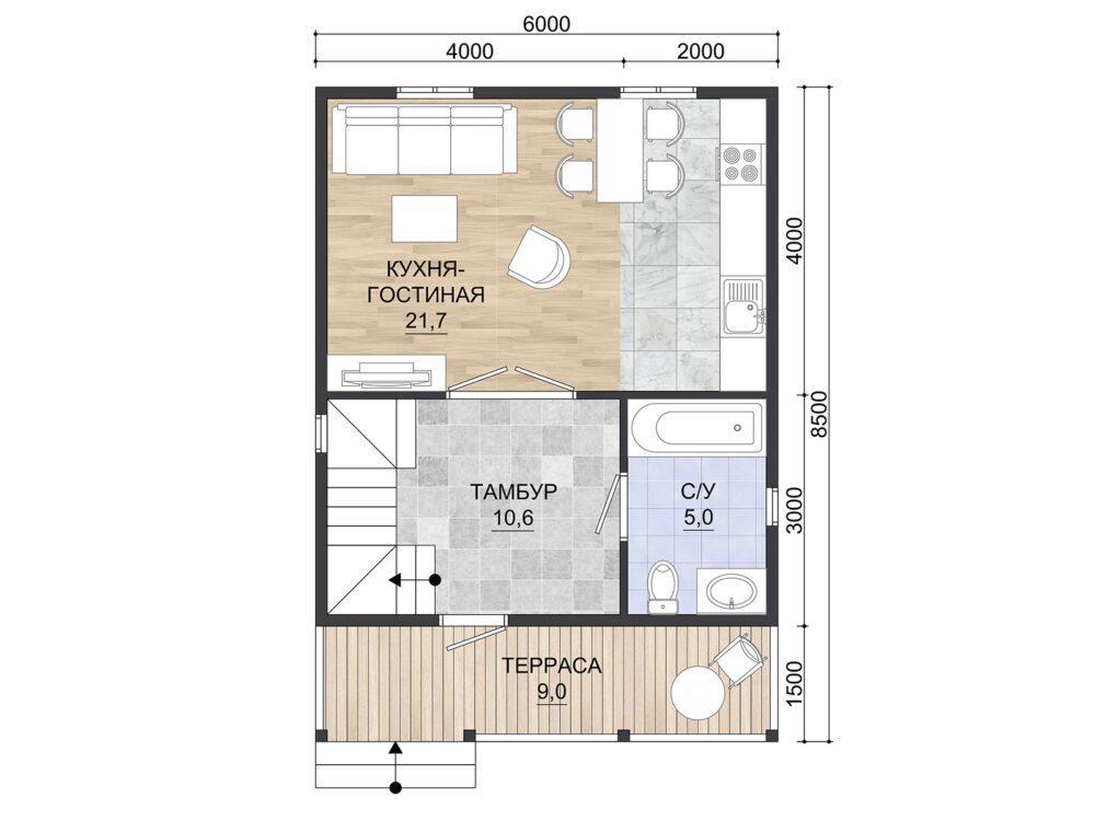 Проект каркасного дома К-7
