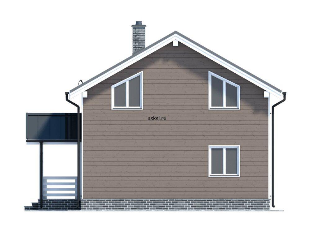 Фото фасада каркасного дома 7,5х7,5