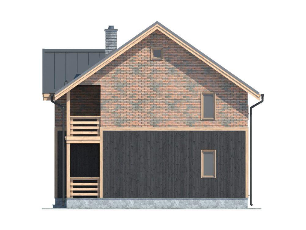 Фото фасада каркасного дома для постоянного проживания