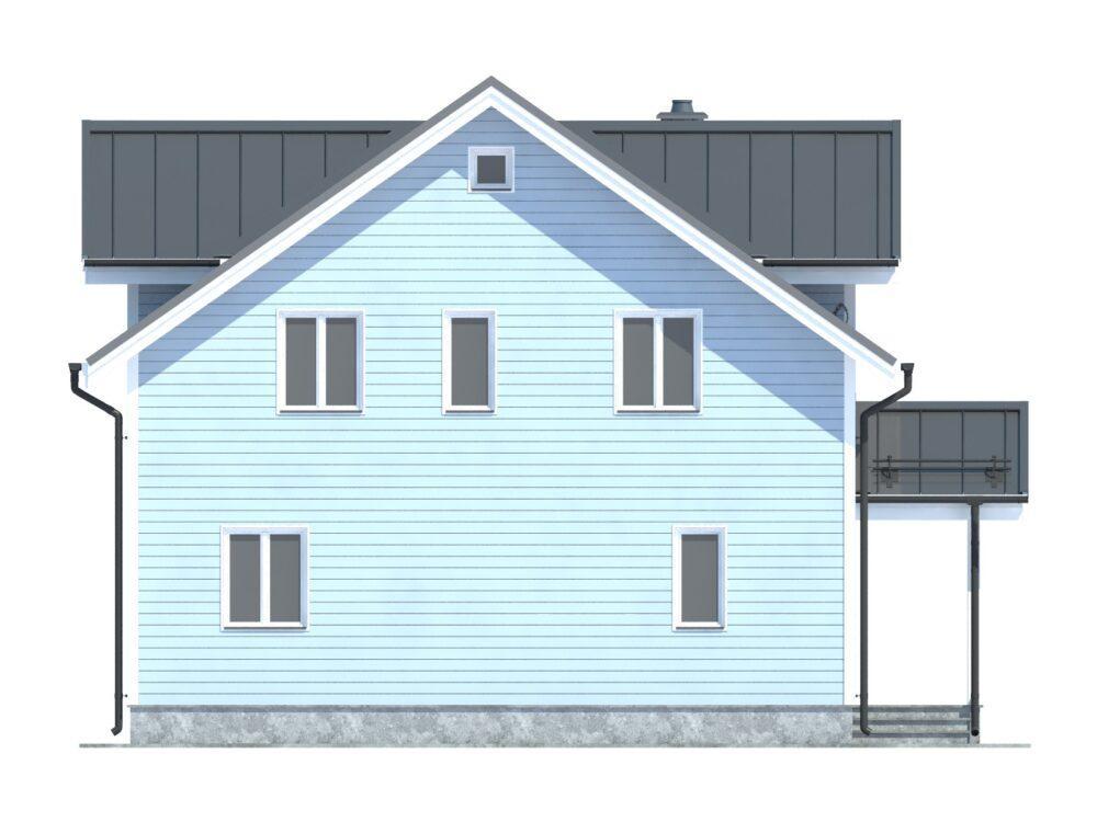 Фото фасада каркасного дома 8,5х8,5