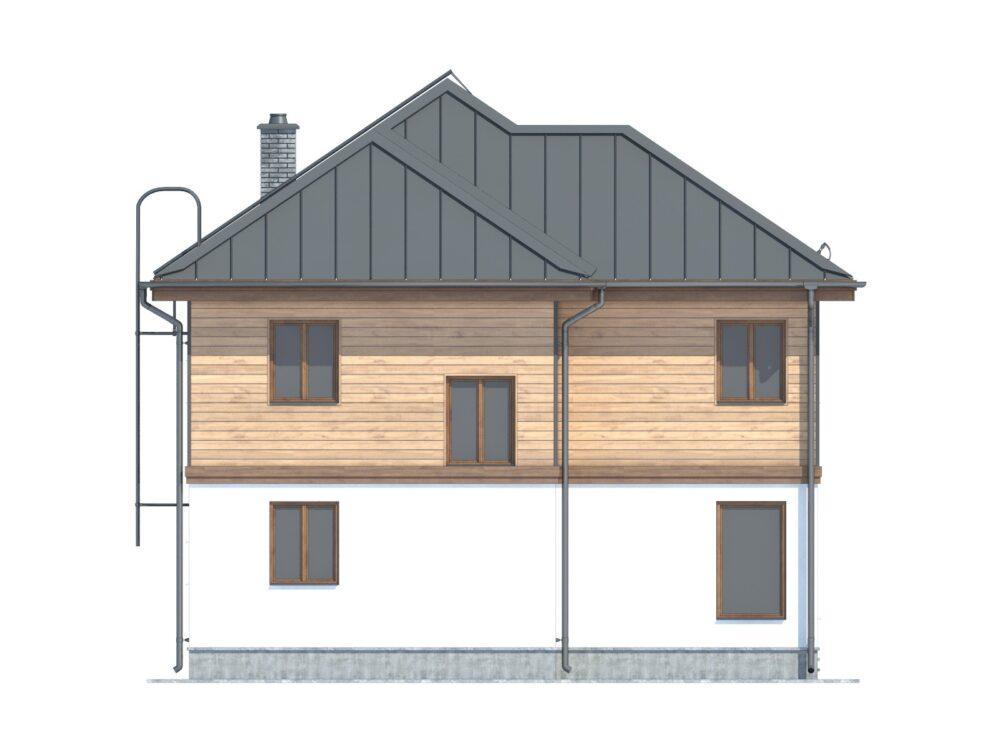 Фото фасада каркасного дома 9х11