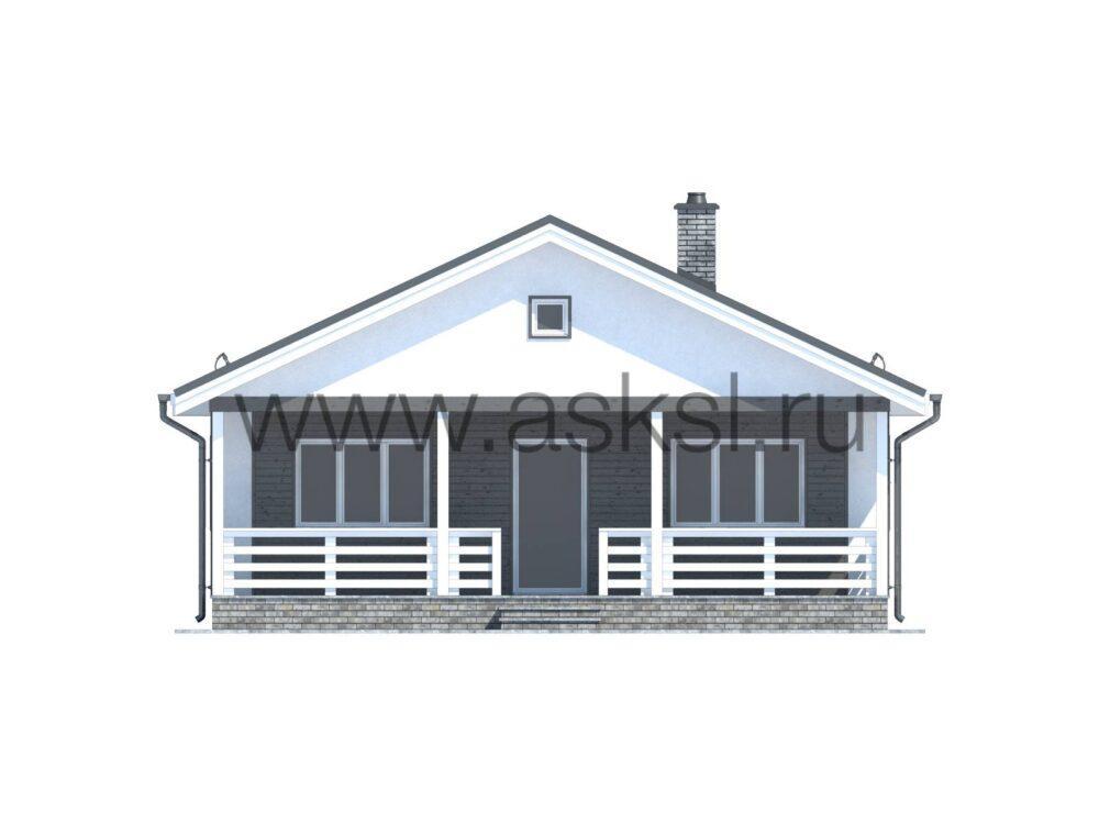 Фото каркасного одноэтажного дома размером 9х10