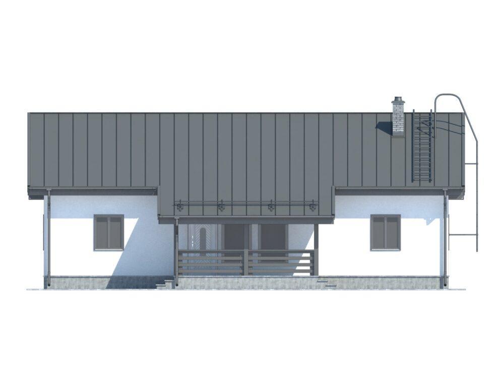 Визуализация каркасного дома финского проекта 8х14