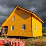 Каркасный дом 100 м2 размером 7х9,5 м во владимирской области