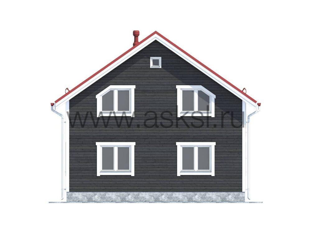 Фото фасадов каркасного дома 8х9