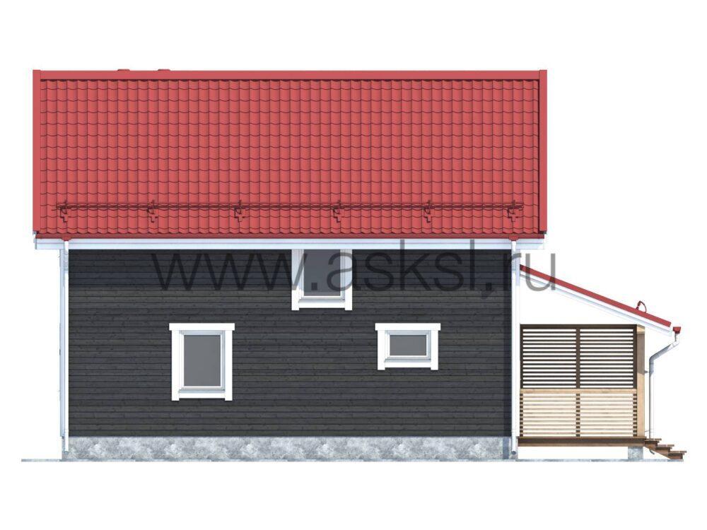 Фото фасада каркасного дома 8х9