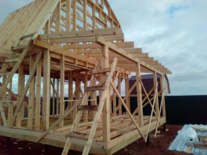 Фото строительства каркасного дома 6х6