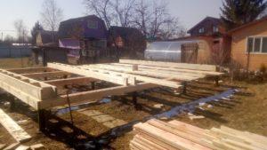 Фото строительства каркасного дома 6х7