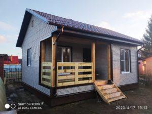 Жилой каркасный дом 38 м2 деревня Дроздово Калужской области