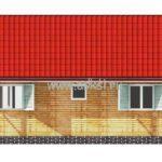 Каркасно-щитовой дом ОД 6х8 Т боковой фасад