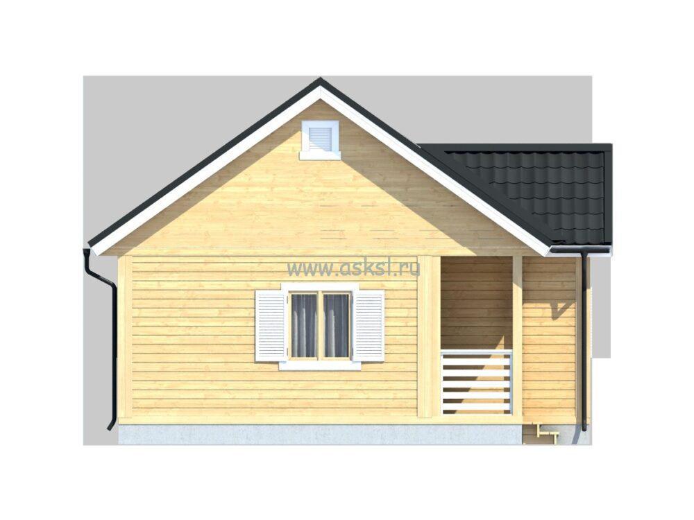 Каркасный дом ОД 6х10 ТК фасад