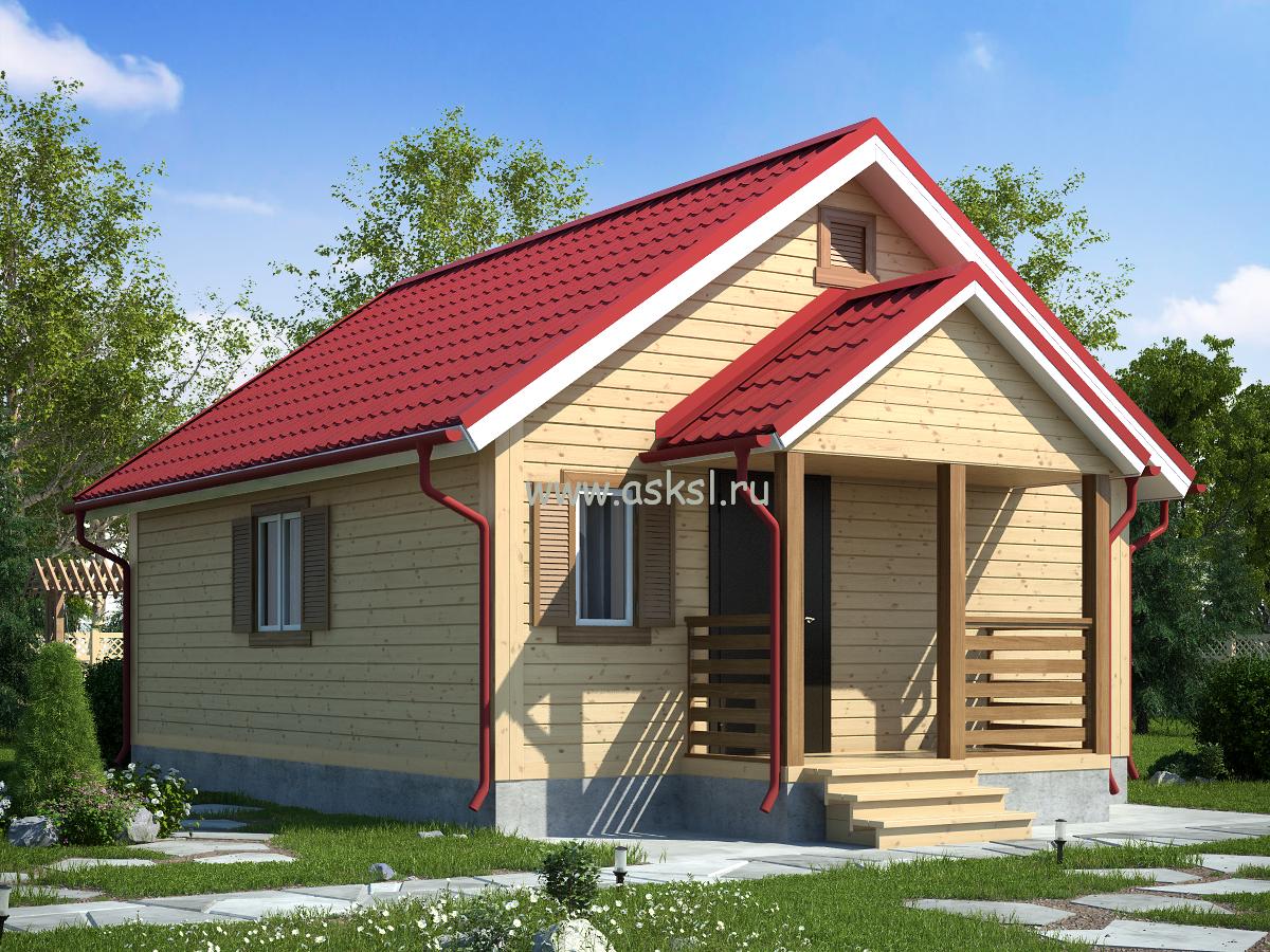 Каркасный дом ОДК 6х7 К