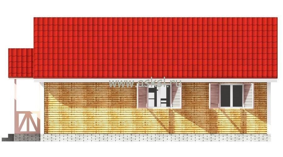 Каркасный дом ОДК 6х9 К фасад