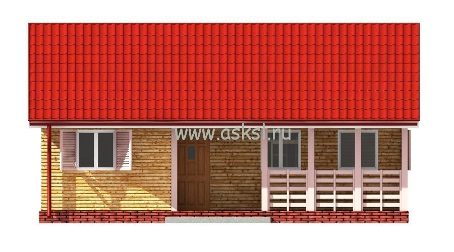 Каркасный дом ОДК 6х9 Т фасад